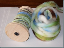 Spinning Merino and Coopworth 003